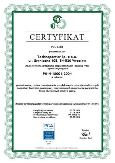 Certyfikat BHP