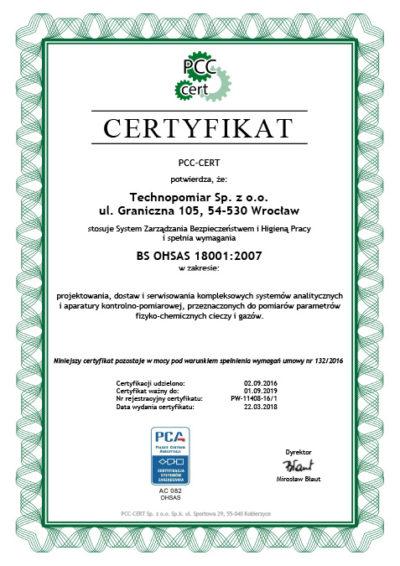Certyfikat OHSAS