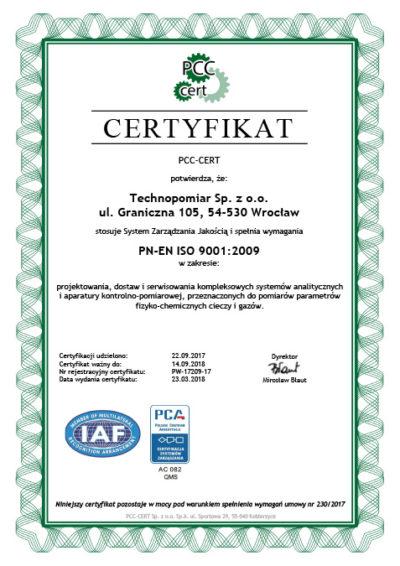 Certyfikat QMS