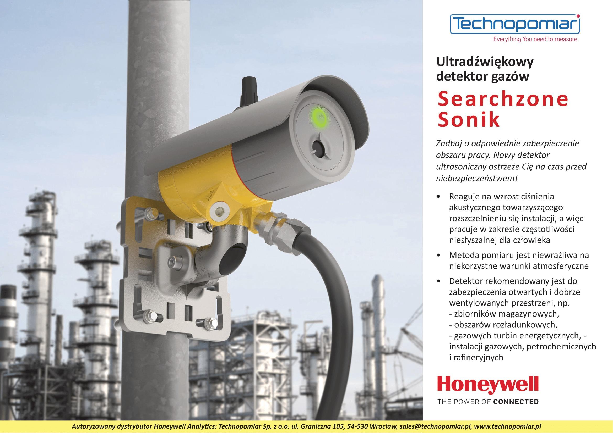 Ultradźwiękowy detektor gazów - Searchzone Sonik