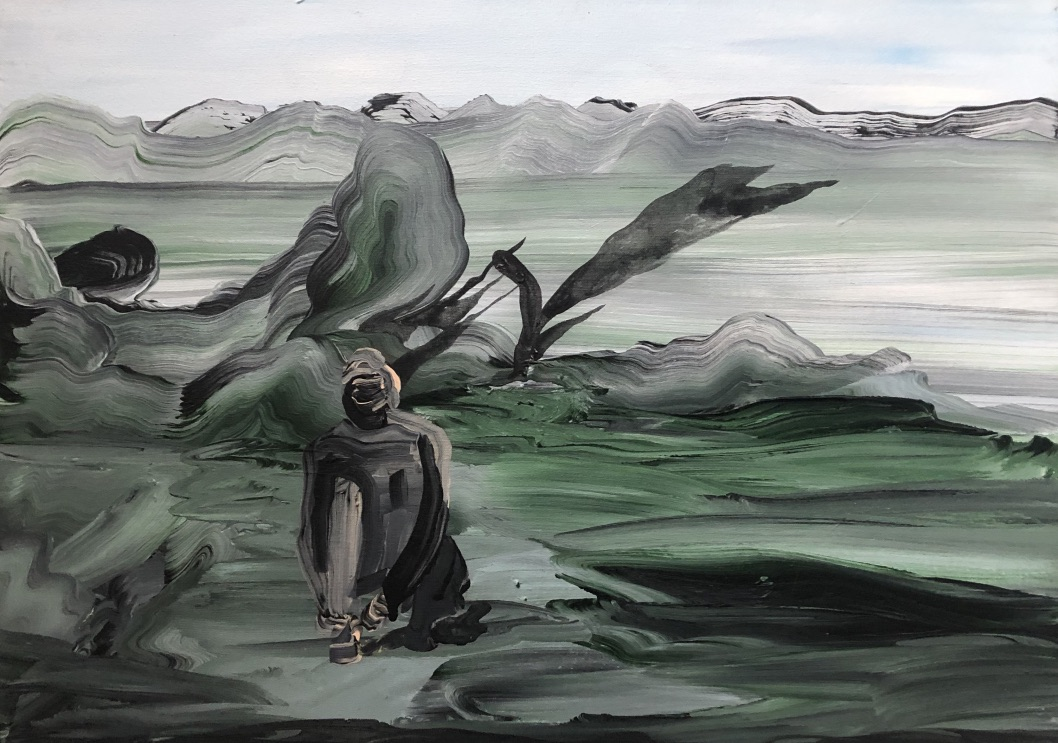 Natalia Bażowska,Oddech, 40x 60 cm, 2018