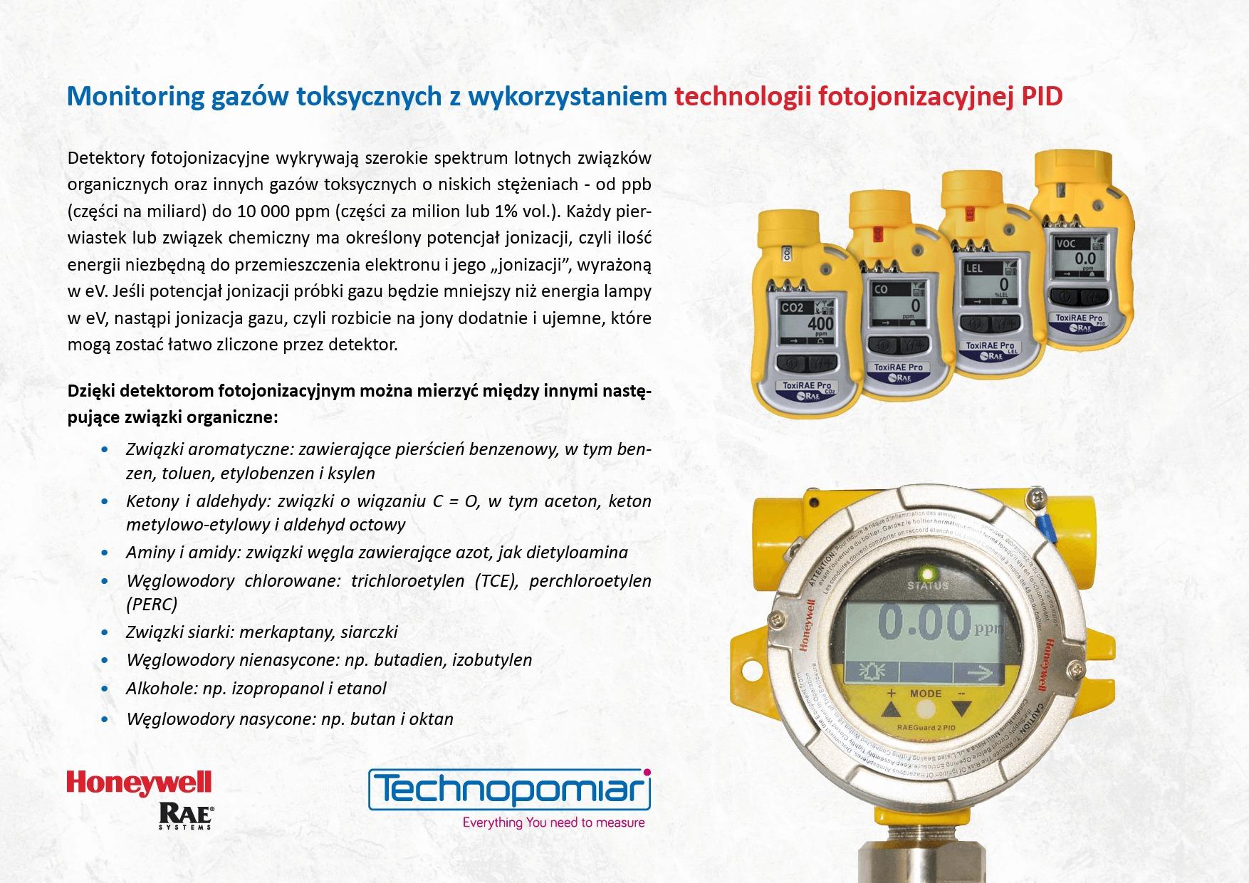 Technologia fotojonizacyjna PID Honeywell RAE Technopomiar