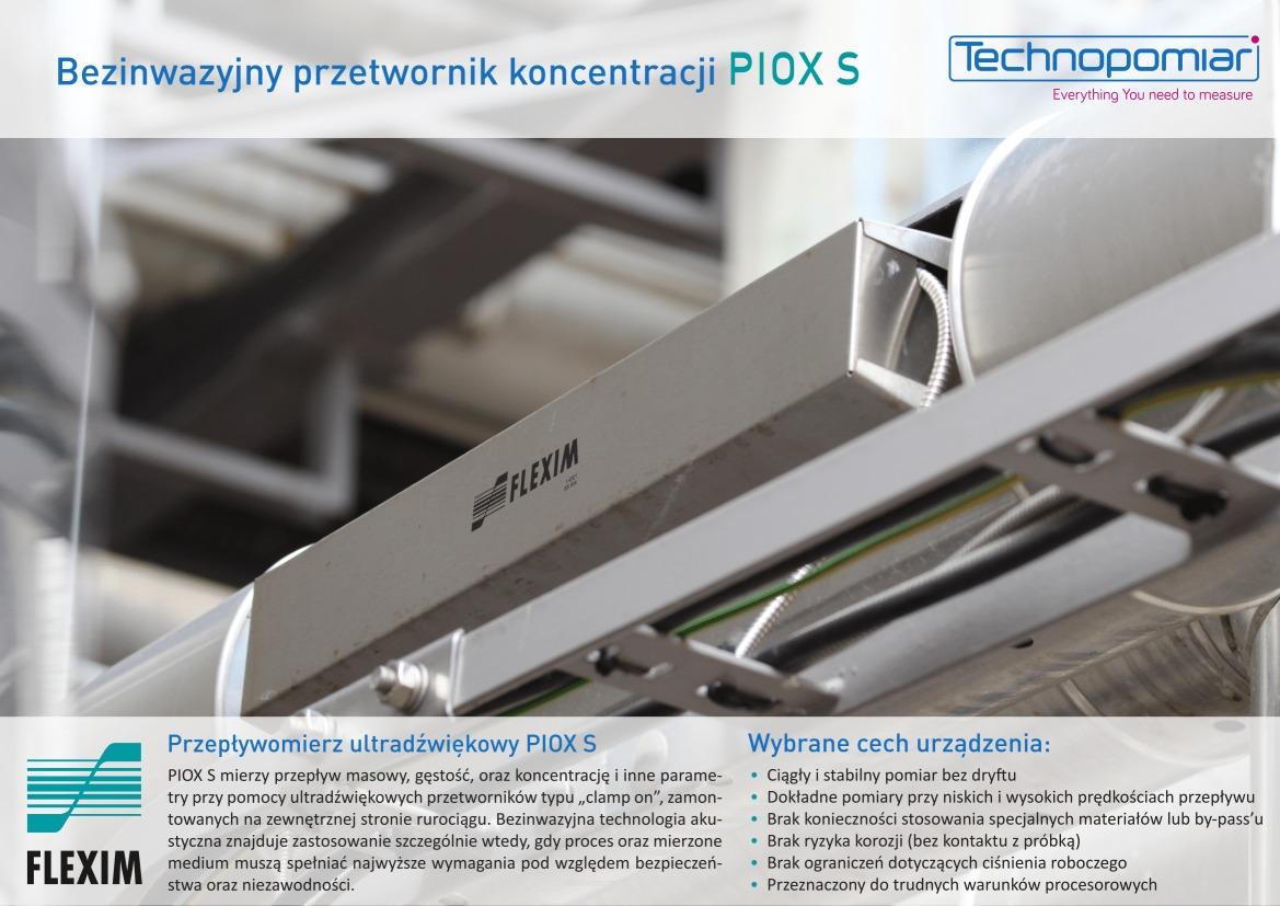 Ultradźwiękowy przetwornik koncentracji PIOX S FLEXIM